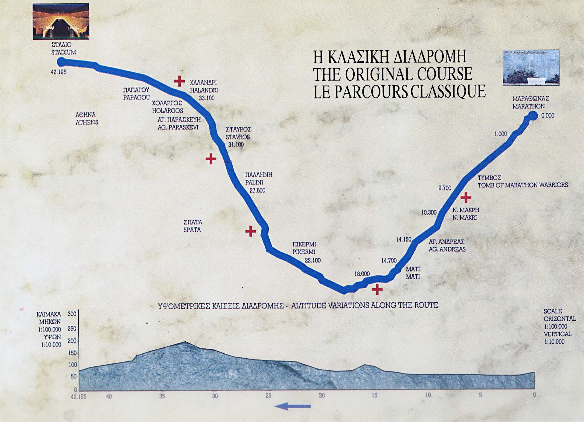 Route of the Marathon Marathon